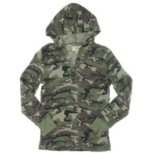 Ralph Lauren Denim and Supply camo henley hoodie